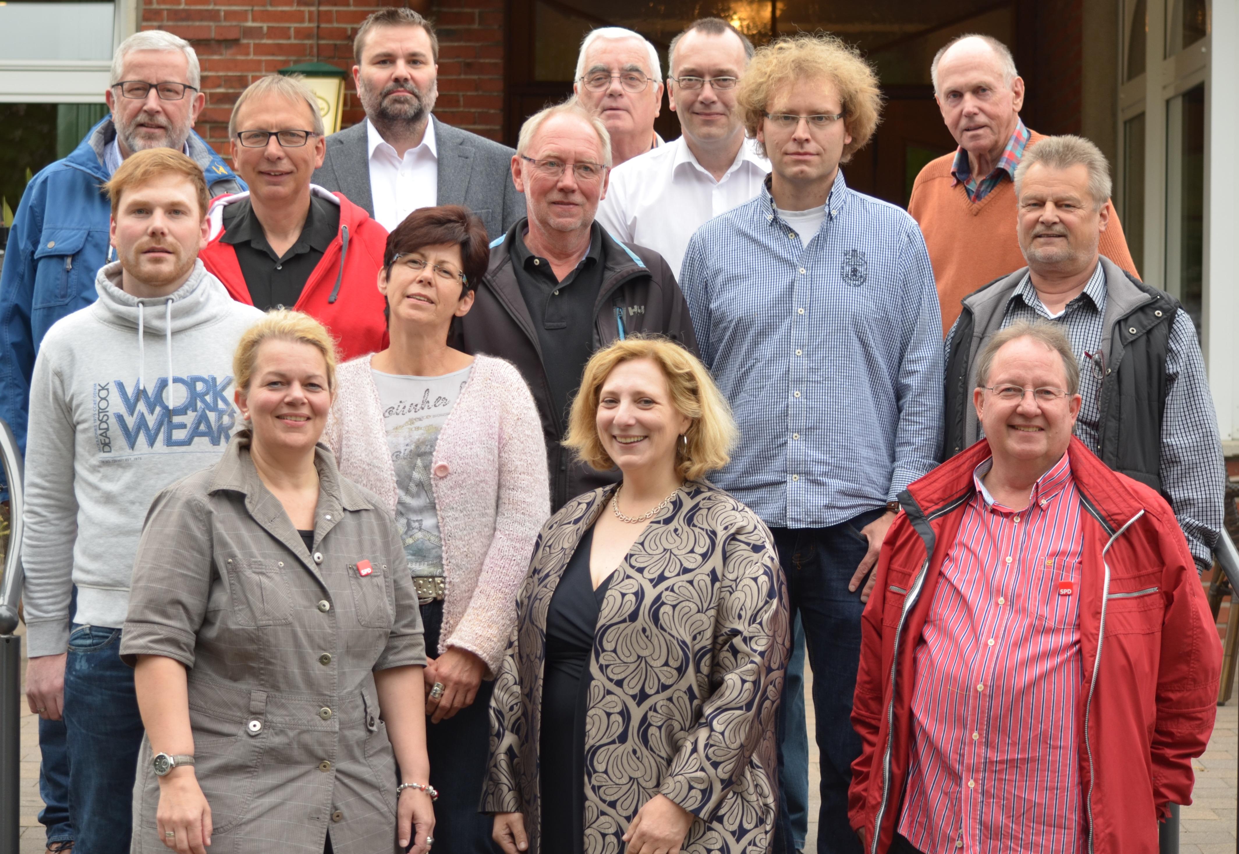 Dr. Daniela De Ridder und die Mitglieder der SPD Haselünne