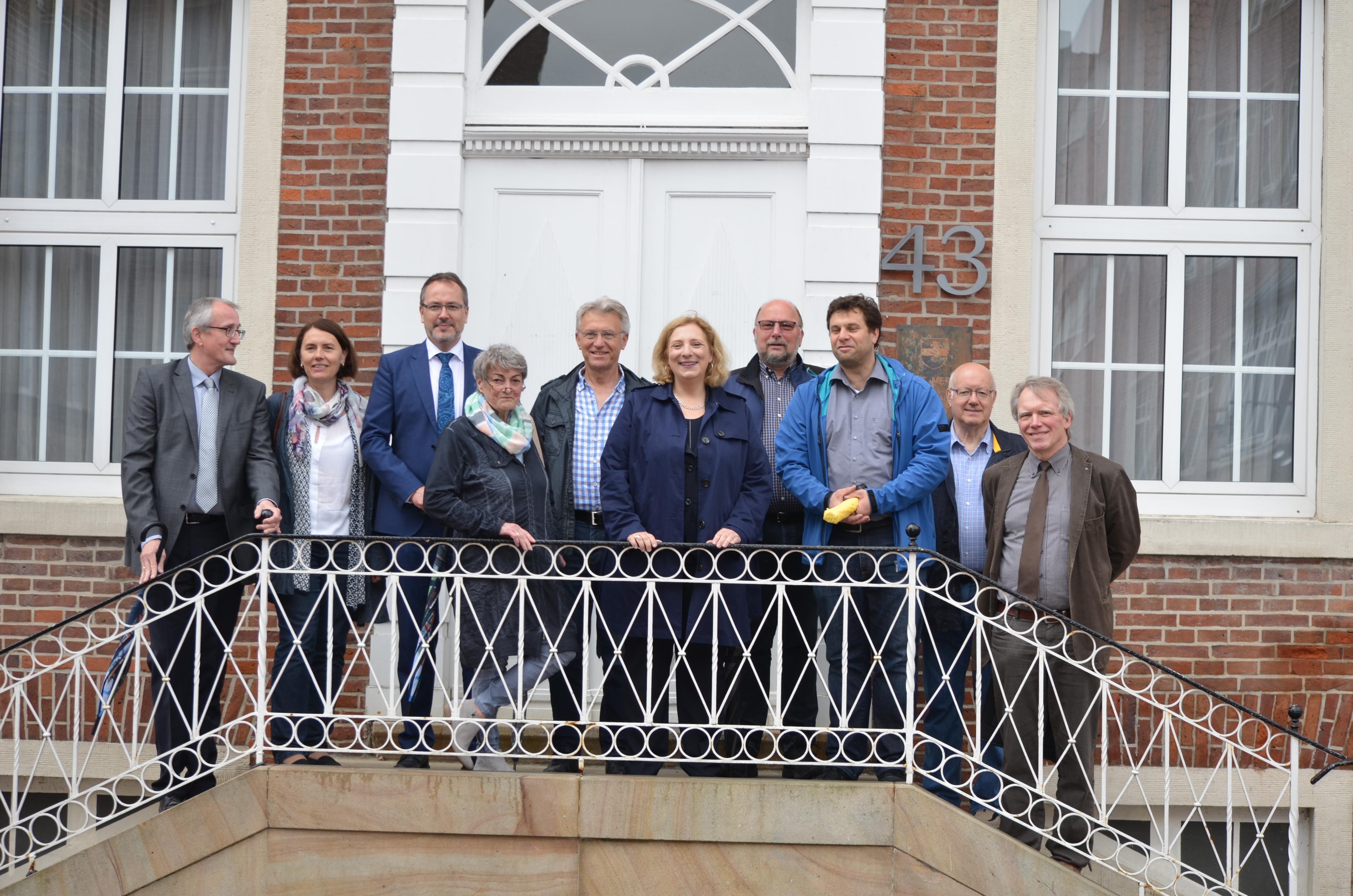 Bernd Ostermann, Andrea Kötter, Helmut Knurbein,  Karin Stief-Kreihe, Bernd Kaiser, Dr. Daniela De Ridder, Johannes Hessel, Dirk Keller, Georg Tranel, (v.l.n.r.)