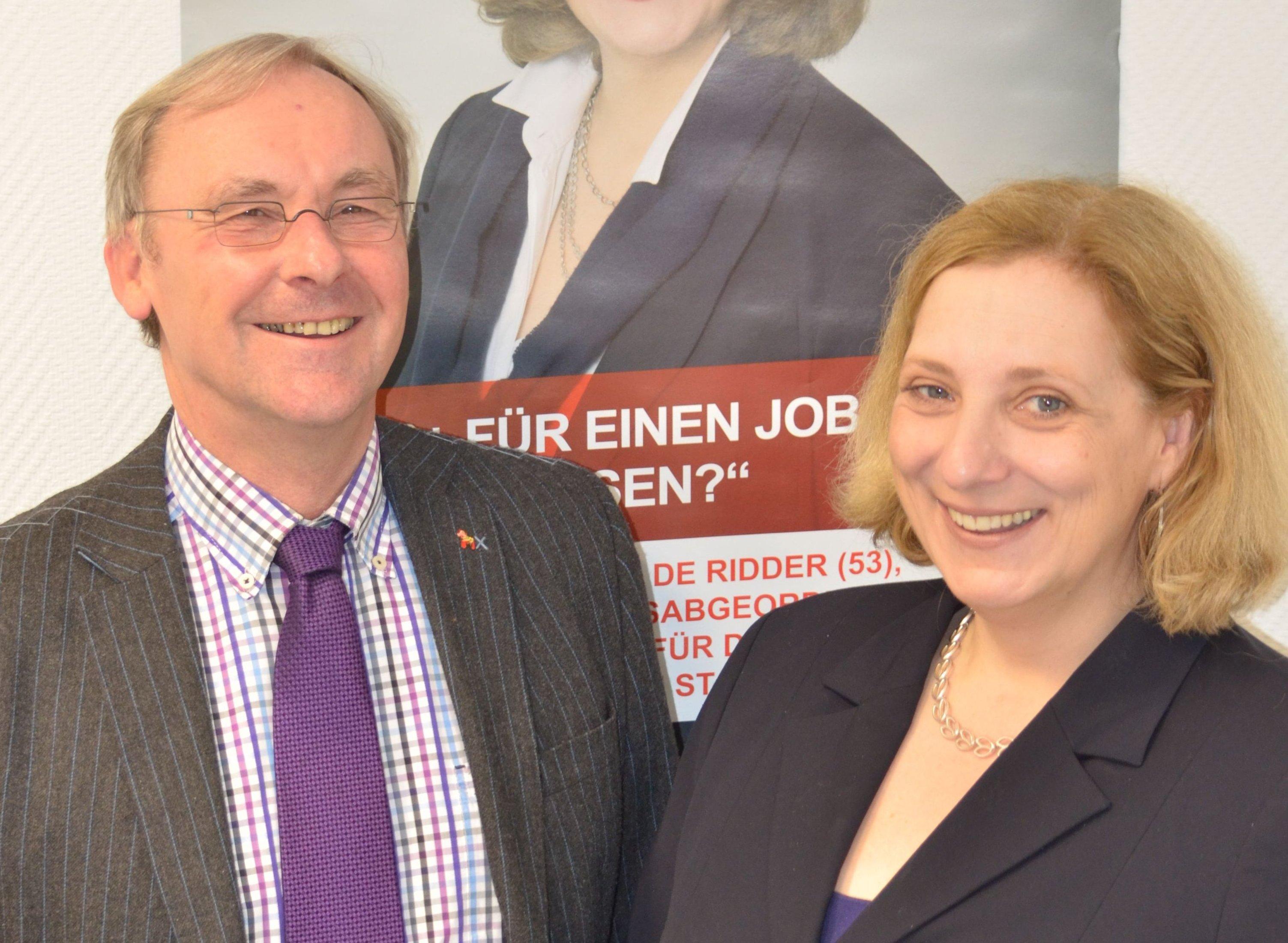 Hans-Joachim Haming und Dr. Daniela De Ridder werben für Beschäftigung