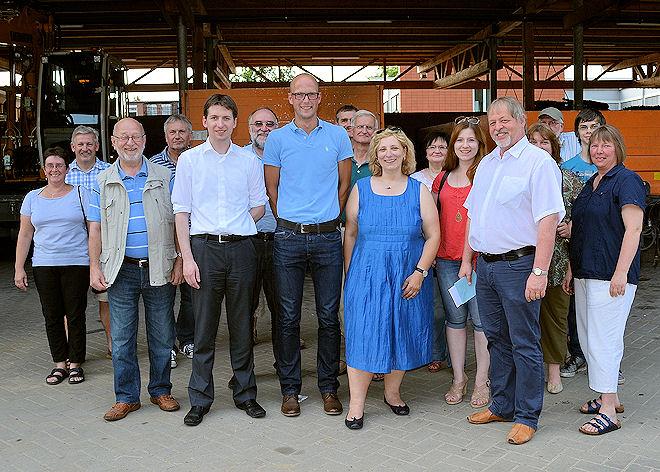 Die Besuchergruppe informierte sich über die Tätigkeiten des Lingener Bauhofes. Foto: © SPD