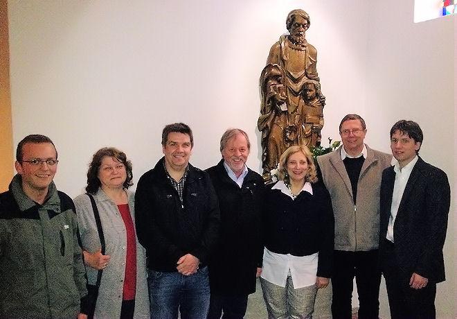 Simon Böhm, Ingrid Penning, Thomas Ahues, Dr. Bernhard Bendick, Dr. Daniela De Ridder (Bundestagskandidatin), Dr. Martin Trimpe, Andreas Kröger (v. links) | Foto: © SPD