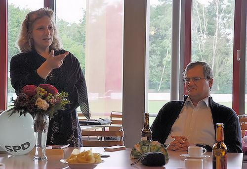 Dr. Daniela De Ridder referierte über Landwirtschaftspolitik. Insbesondere die Trinkwasserqualität liegt ihr am Herzen. Foto: © SPD