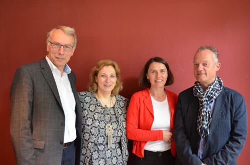 Bernhard Daldrup, Daniela De Ridder, Andrea Kötter und Peter Egbers (v.l.)