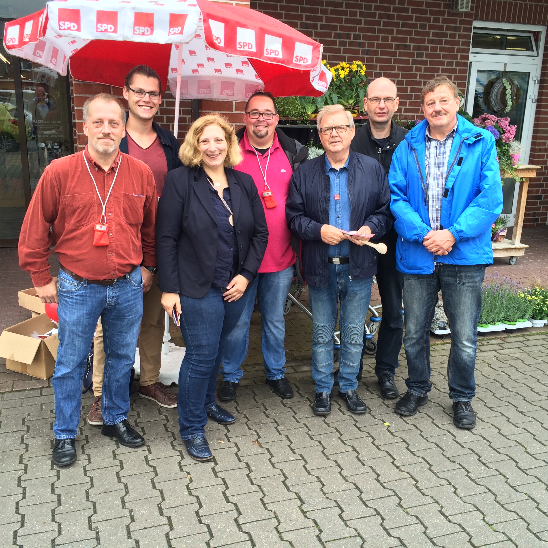 Guido Wilms, Robin Schnieders, Dr. Daniela De Ridder, Niels Finke, Lothar Buttlar, Klaus Gödde, Detlev Walter (v.l.n.r.)