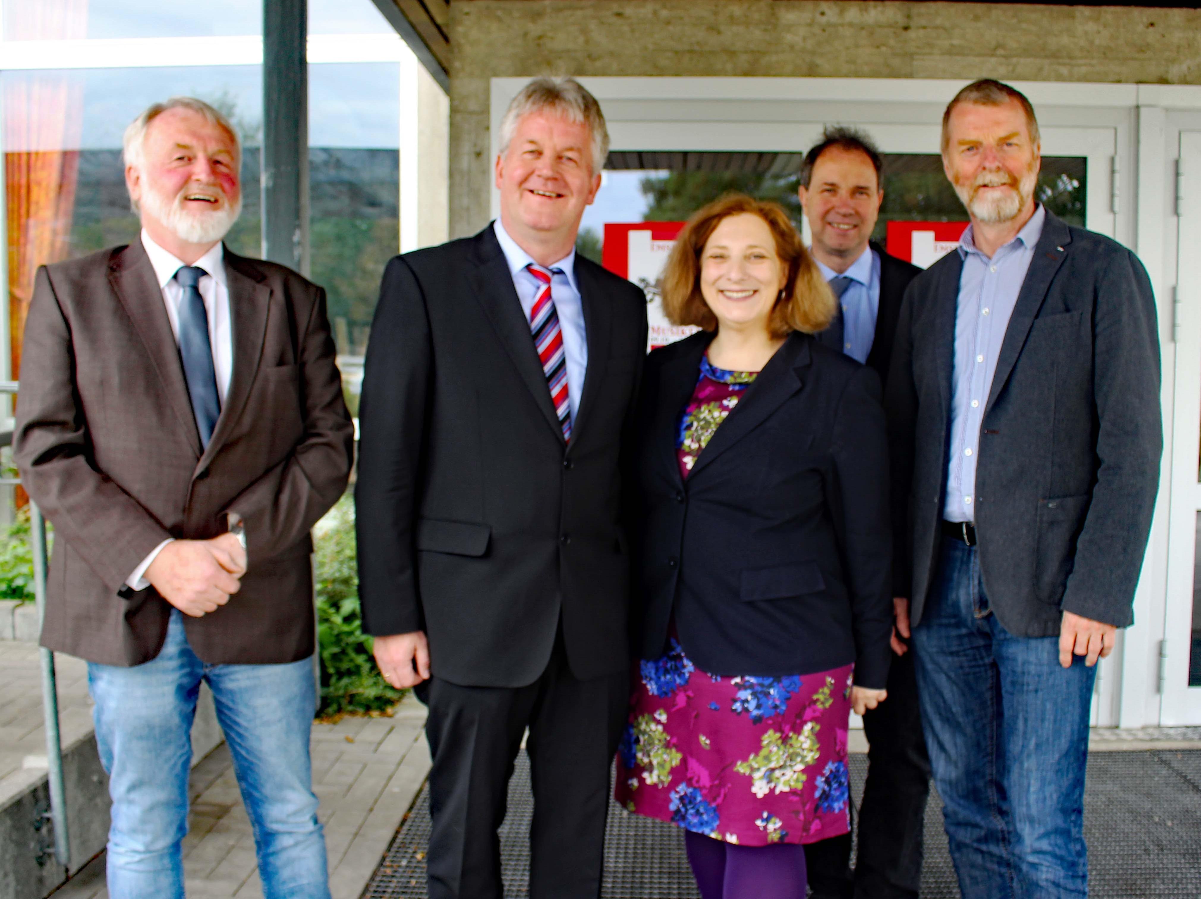 Friedhelm Wolksi-Prenger, Bernhard Overberg, Dr. Daniela de Ridder, Wolfram de Ridder und Hugo Kirchhelle (v.l.n.r.)