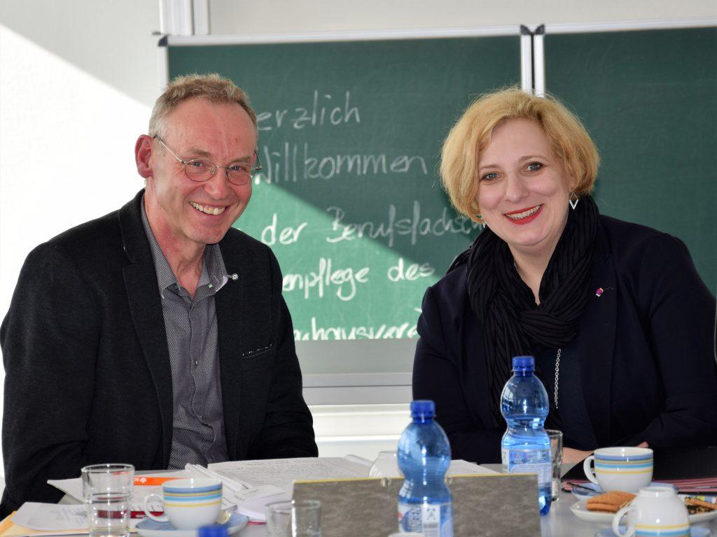 Bernhard Alsmeier und Dr. Daniela De Ridder im Gespräch