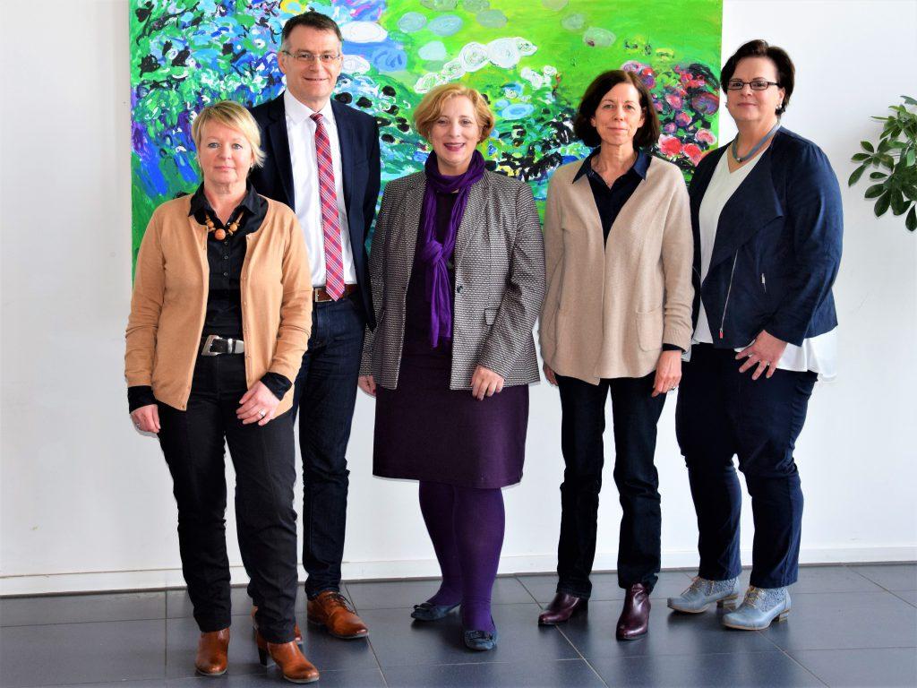 Heike Kampmeier, Dr. Tobias Pischel de Ascensao, Dr. Daniela De Ridder, Karola Langenhof, Christine Krumtünger (Foto: Helga van Slooten)