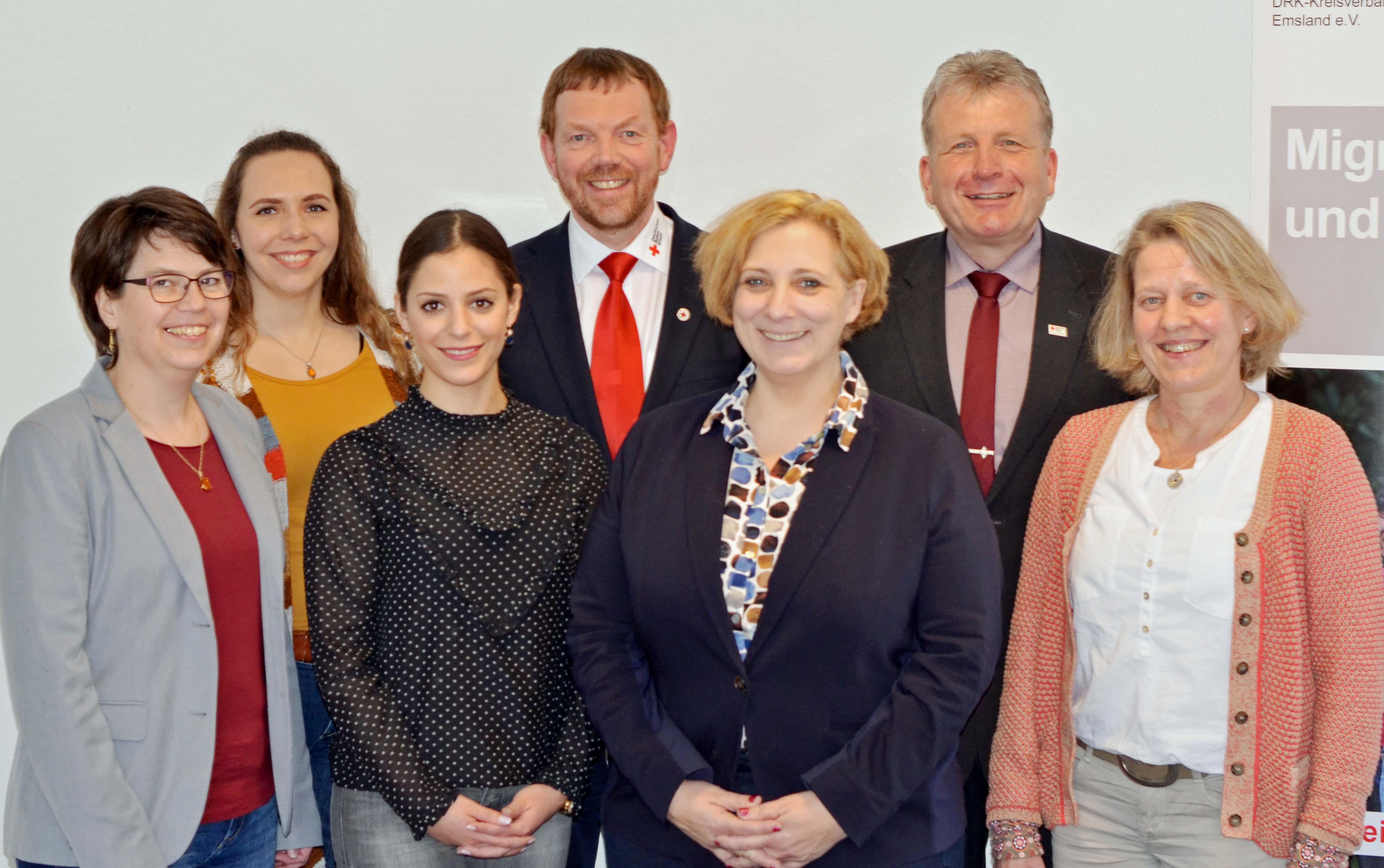 Ulrike Otten, Karina Böhmker, Nadja Wilken, Josef Wittrock, Dr. Daniela De Ridder, Thomas Hövelmann, Helen Wessels