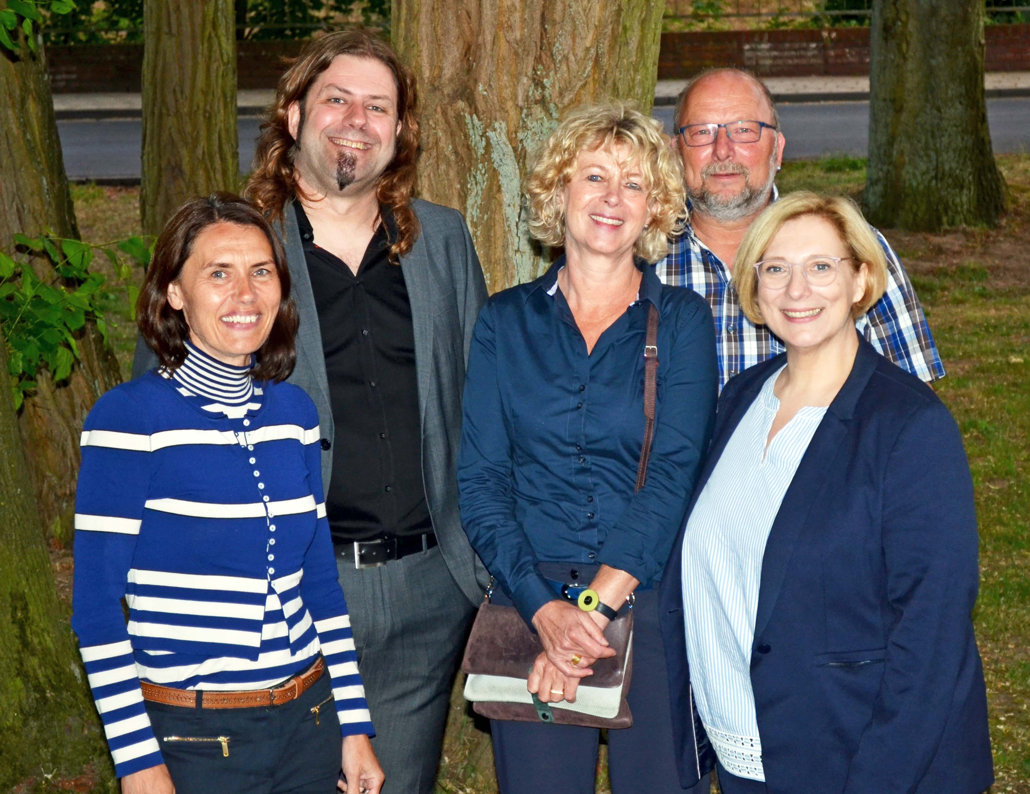 Andrea Kötter, Johan Godschalk, Erna aan de Stegge, Johannes Hessel und Dr. Daniela De Ridder