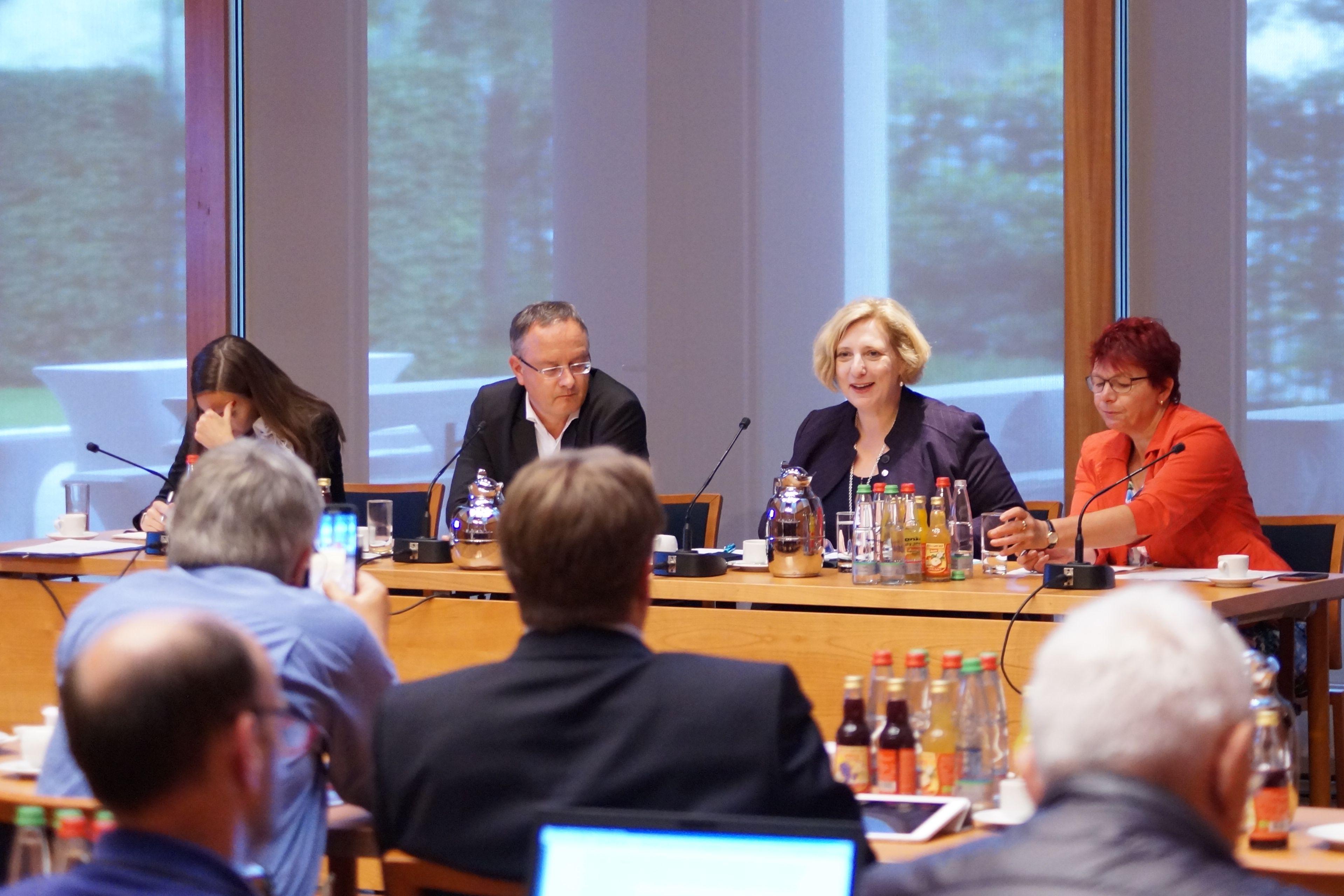 Dr. Daniela De Ridder referiert bei der Klausur der SPD-Landtagsfraktion Baden-Württemberg