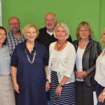 Andrea Kötter (Landtagskandidatin SPD), Johannes Hessel (Vorsitzender des OV-Meppen der SPD), Dr. Daniela De Ridder (MdB), Christian Hüser, Petra Hengst, Barbara Germer-Grote und Karin Berger (v.l.n.r.)