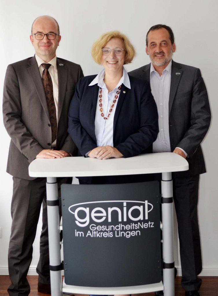 Besuch bei GENIAL in Lingen: Wolfgang Hentrich, Dr. Daniela De Ridder, Christoph Schwerdt