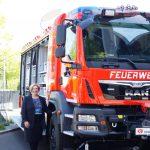 Dr. Daniela De Ridder dankt den Blaulichtkräften