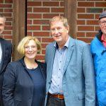 V.l.n.r.: Eckard Lammers, Dr. Daniela De Ridder, Dr. Hans-Joachim Schabedoth und SPD-Ortsvereinsvorsitzender Peter Kramer
