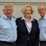 V.l.n.r. - Willi Strubbe, Daniela De Ridder und Michael Grundke