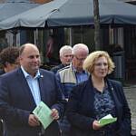 Christian Otten und Dr. Daniela De Ridder zu Beginn des Antikriegstages