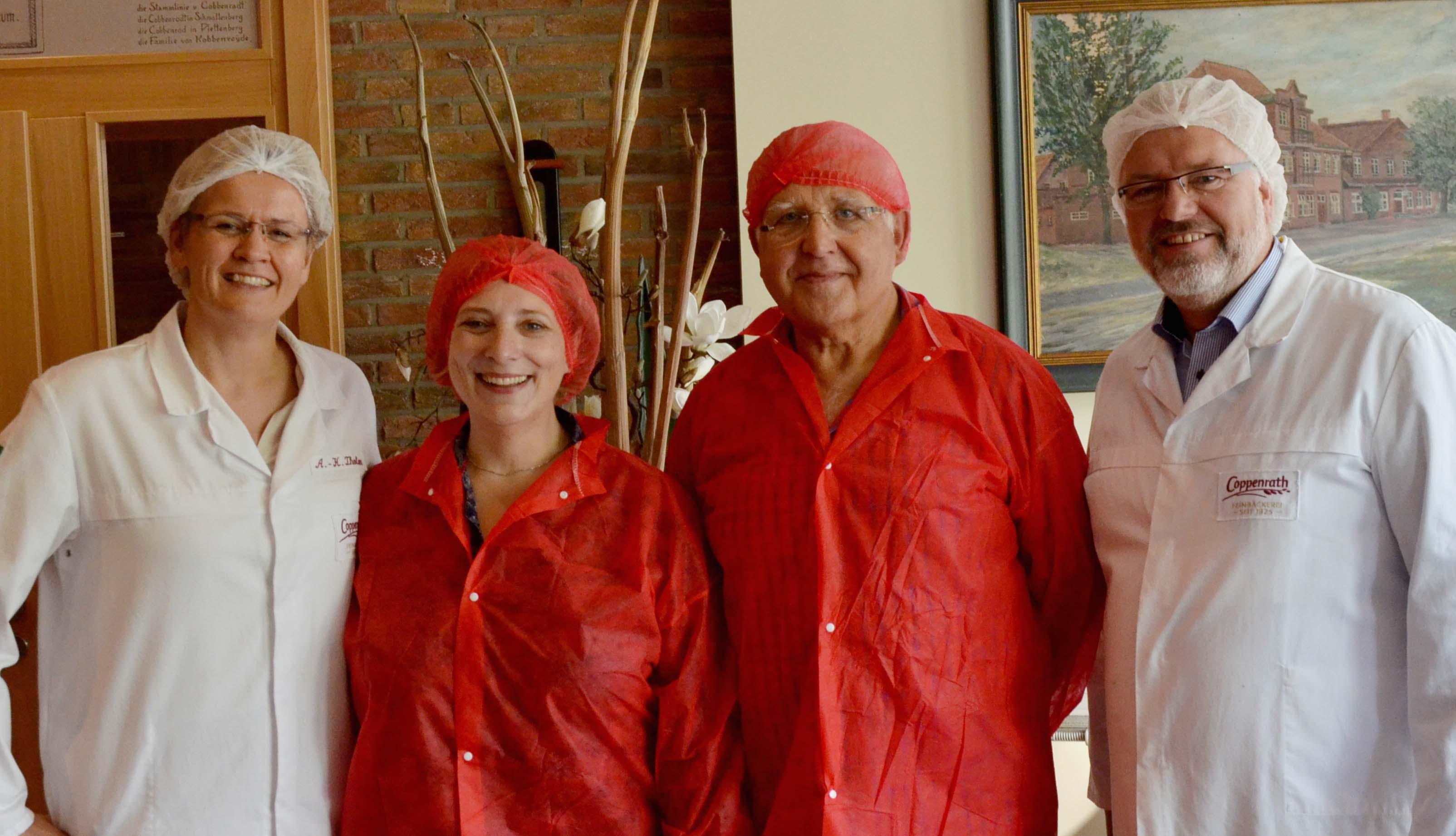 Anne Katrin Tholen, Dr. Daniela De Ridder, Franz Günnemann und Andreas Coppenrath