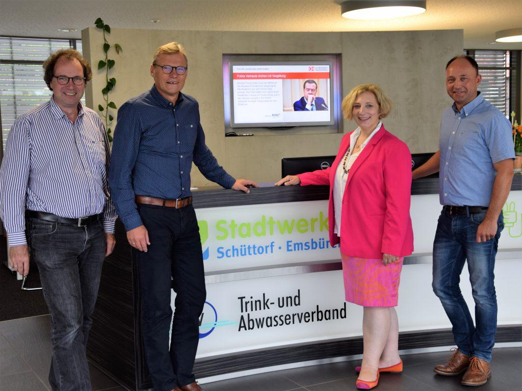 Wolfram De Ridder, Bernhard Weinberg, Dr. Daniela De Ridder und Jens Herrmann (v.l.n.r.)