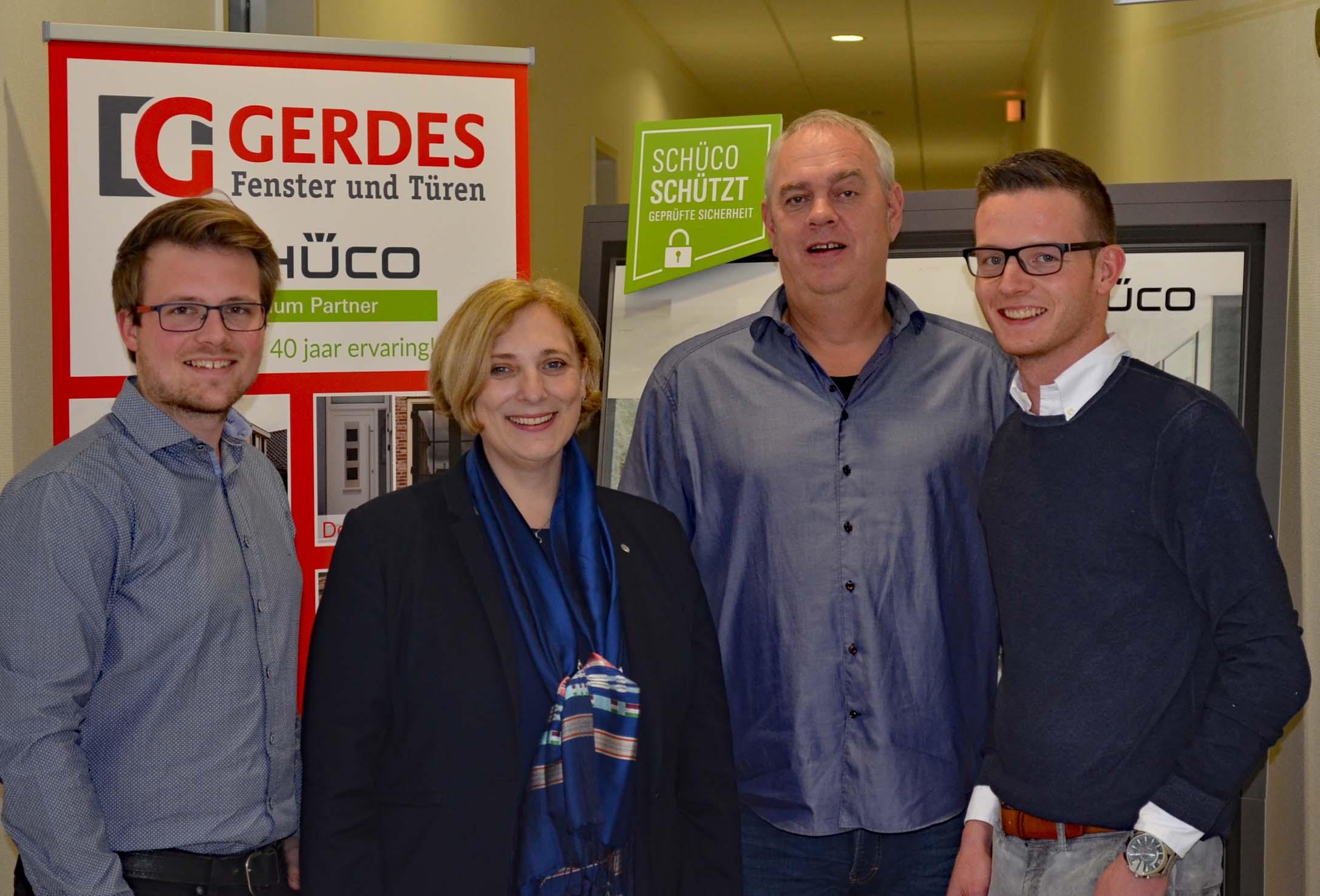 V.l.n.r.: Peter Simon, Dr. Daniela De Ridder, Thomas Gerdes und Julius Frilling