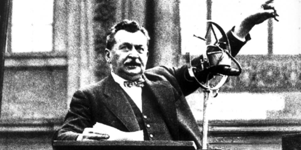 Otto Wels bei seiner letzten Rede gegen die Nationalsozialisten vor dem Reichstag