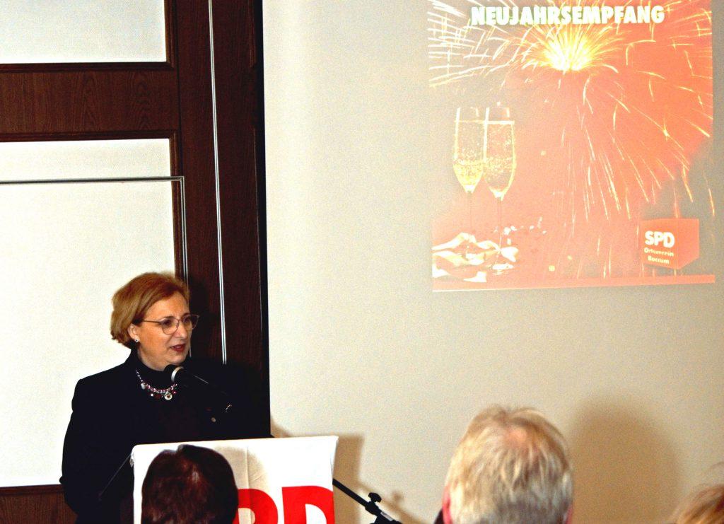 Dr. Daniela De Ridder beim Neujahrsempfang der SPD in Baccum
