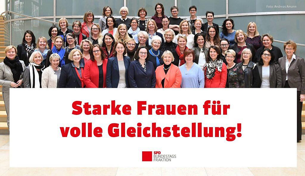 Die Frauen der SPD-Bundestagsfraktion in der 19. Legislaturperiode © Andreas Amann