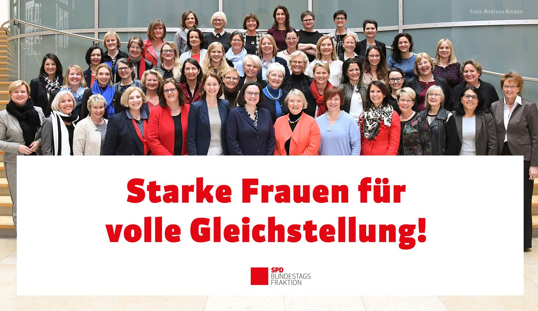 Die Frauen der SPD-Bundestagsfraktion in der 19. Legislaturperiode © Andreas Amann