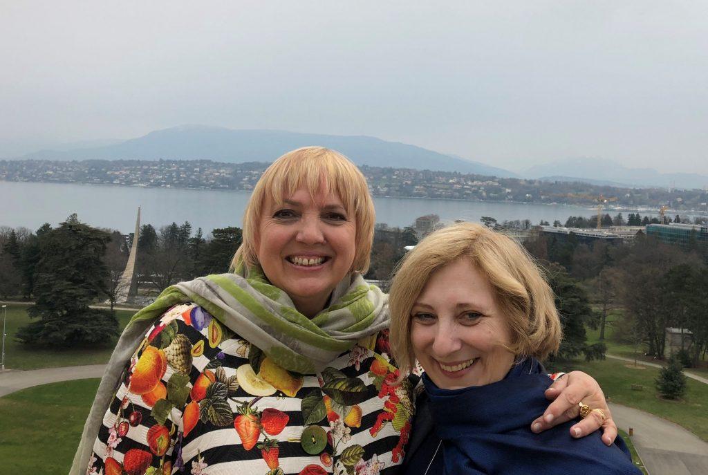 Claudia Roth und Dr. Daniela De Ridder bei der Interparlamentarischen Union (IPU) in Genf