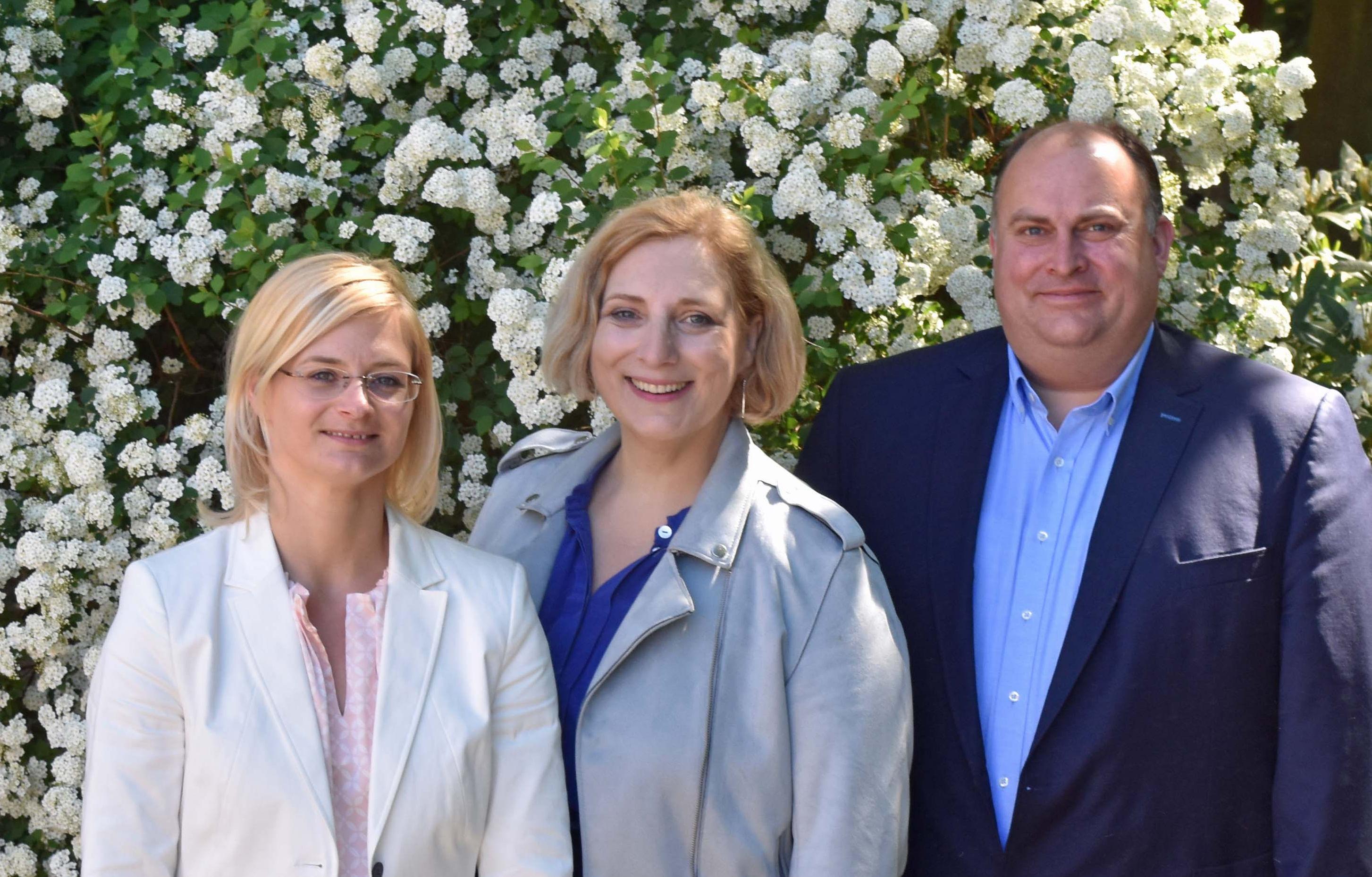 V.l.n.r.: Inga Meyer, Dr. Daniela De Ridder und Christian Otten