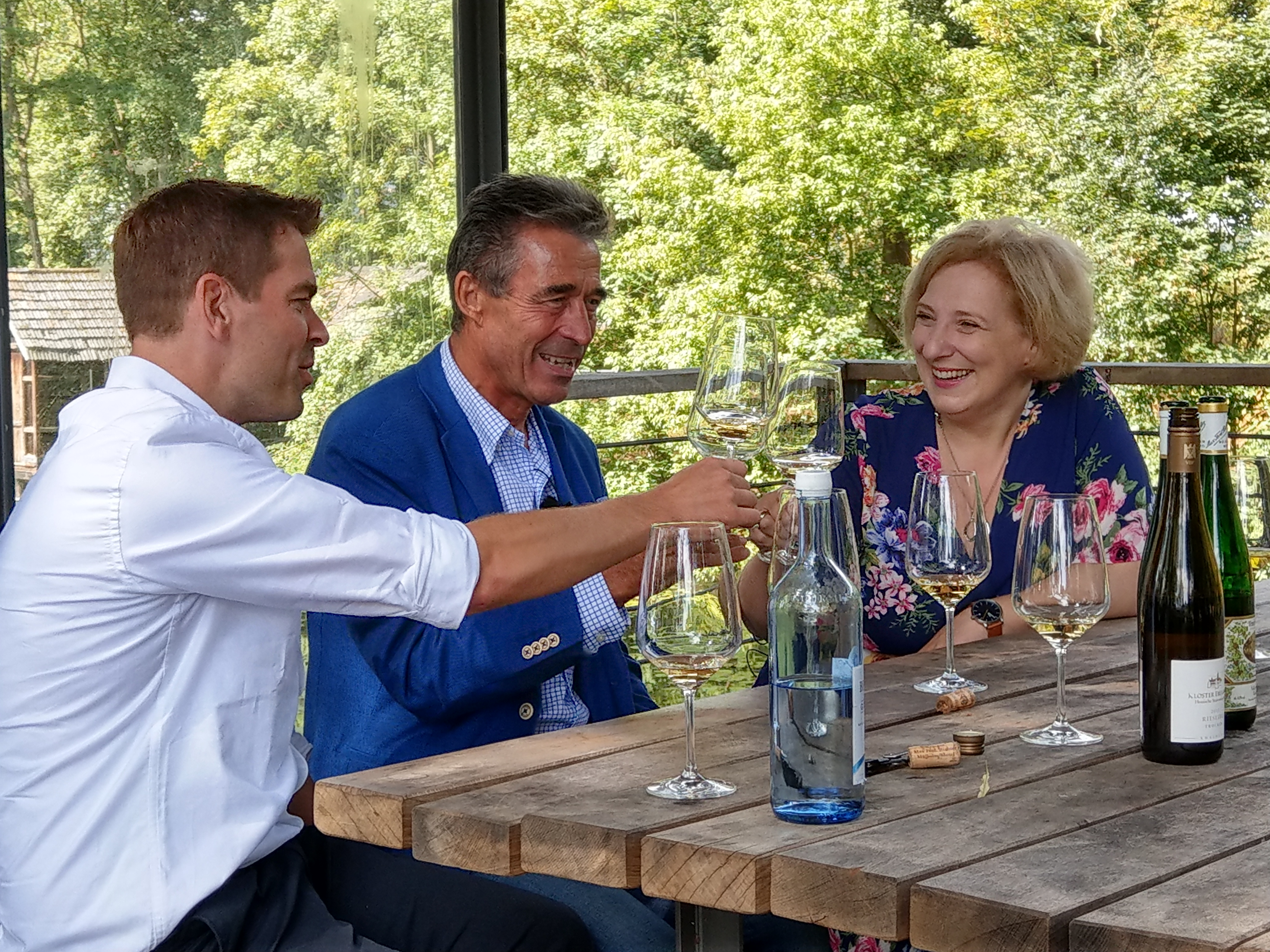 v.l.: Morten Brink Iwersen, Anders Fogh Rasmussen, Dr. Daniela De Ridder