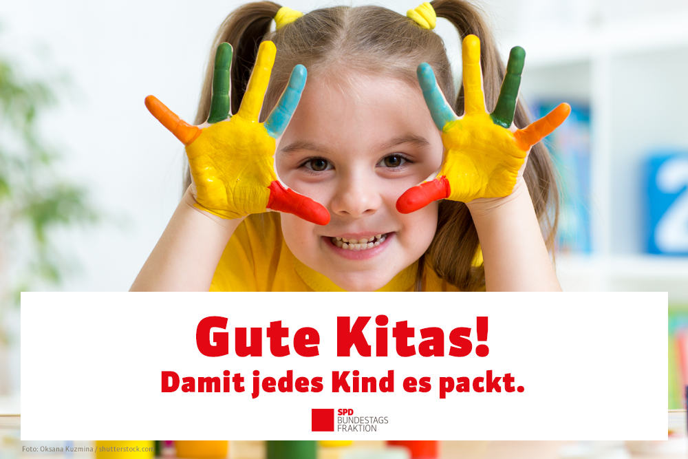 """Das """"Gute-Kita-Gesetz"""" schafft mehr Qualität in der Kinderbetreuung und entlastet die Eltern"""