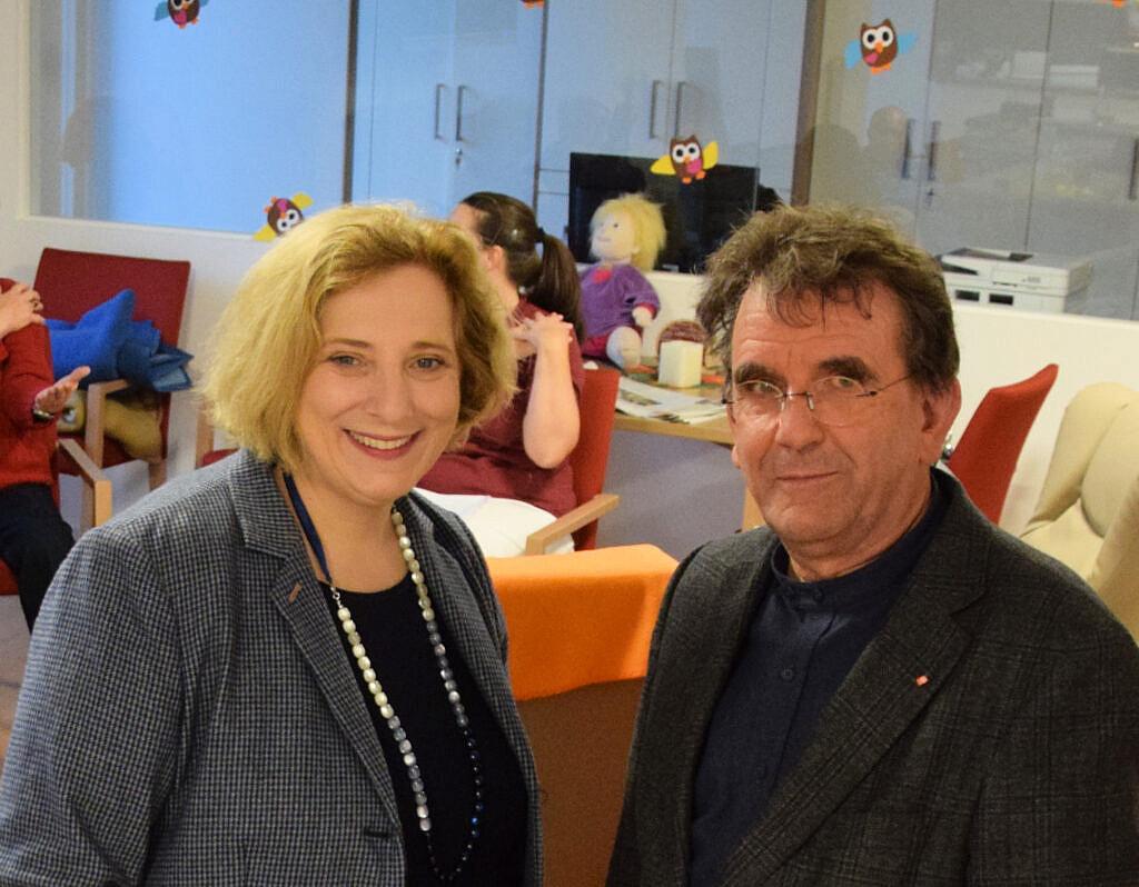 Dr. Daniela De Ridder und Paul Leidner