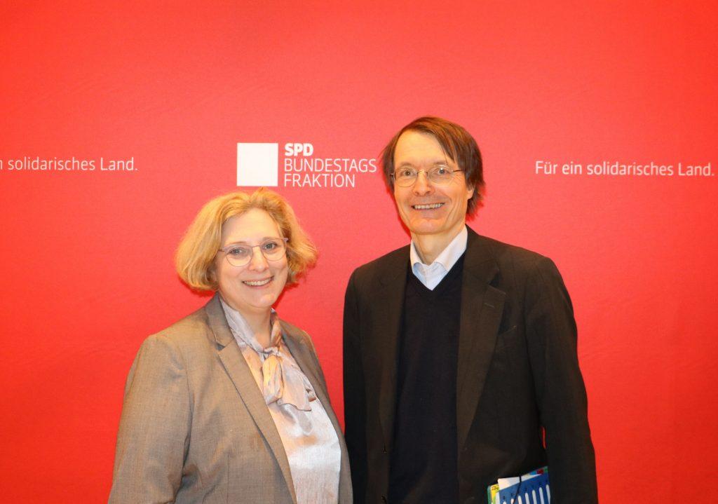 Dr. Daniela De Ridder und Prof. Dr. Karl Lauterbach