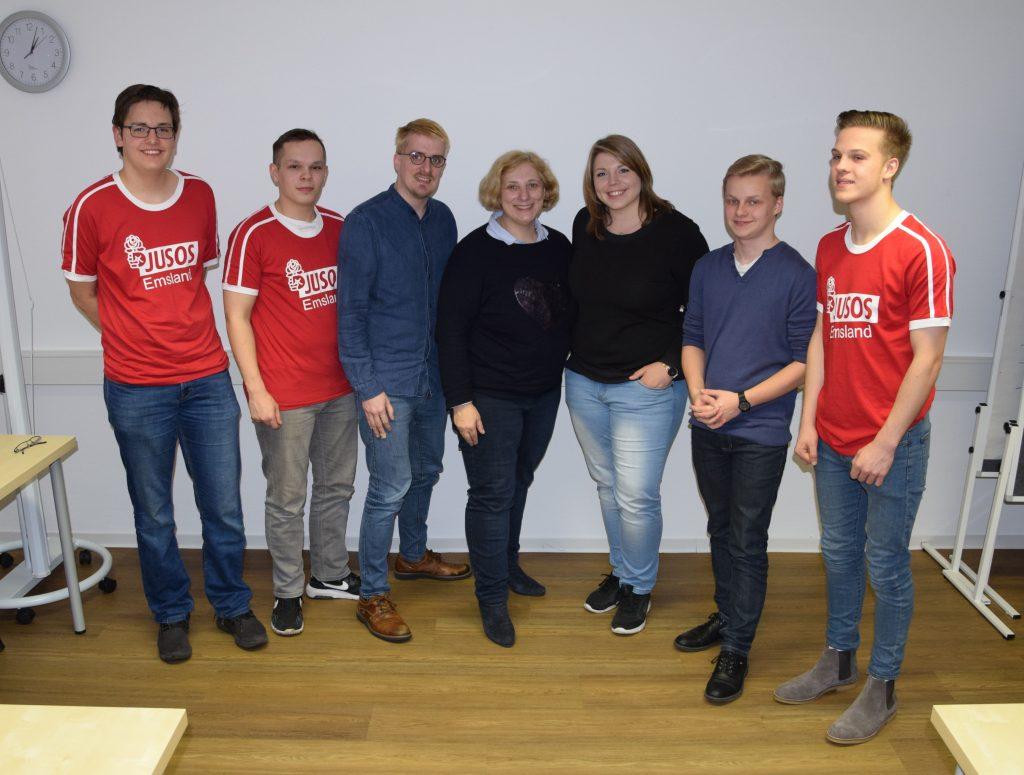 Dr. Daniela De Ridder und die Jusos Emsland im Dialog beim Zukunftsatelier in Meppen