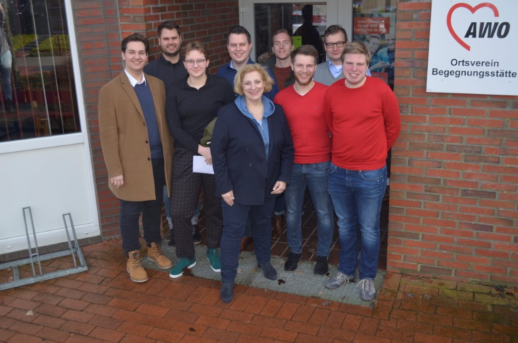 Dr. Daniela De Ridder und die Jusos der Grafschaft Bentheim
