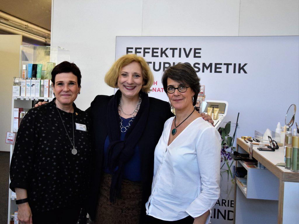 Susanne Schröter (Kosmetik Beraterin), Dr. Daniela De Ridder, Isabell Kruse (Reformhaus Kruse)