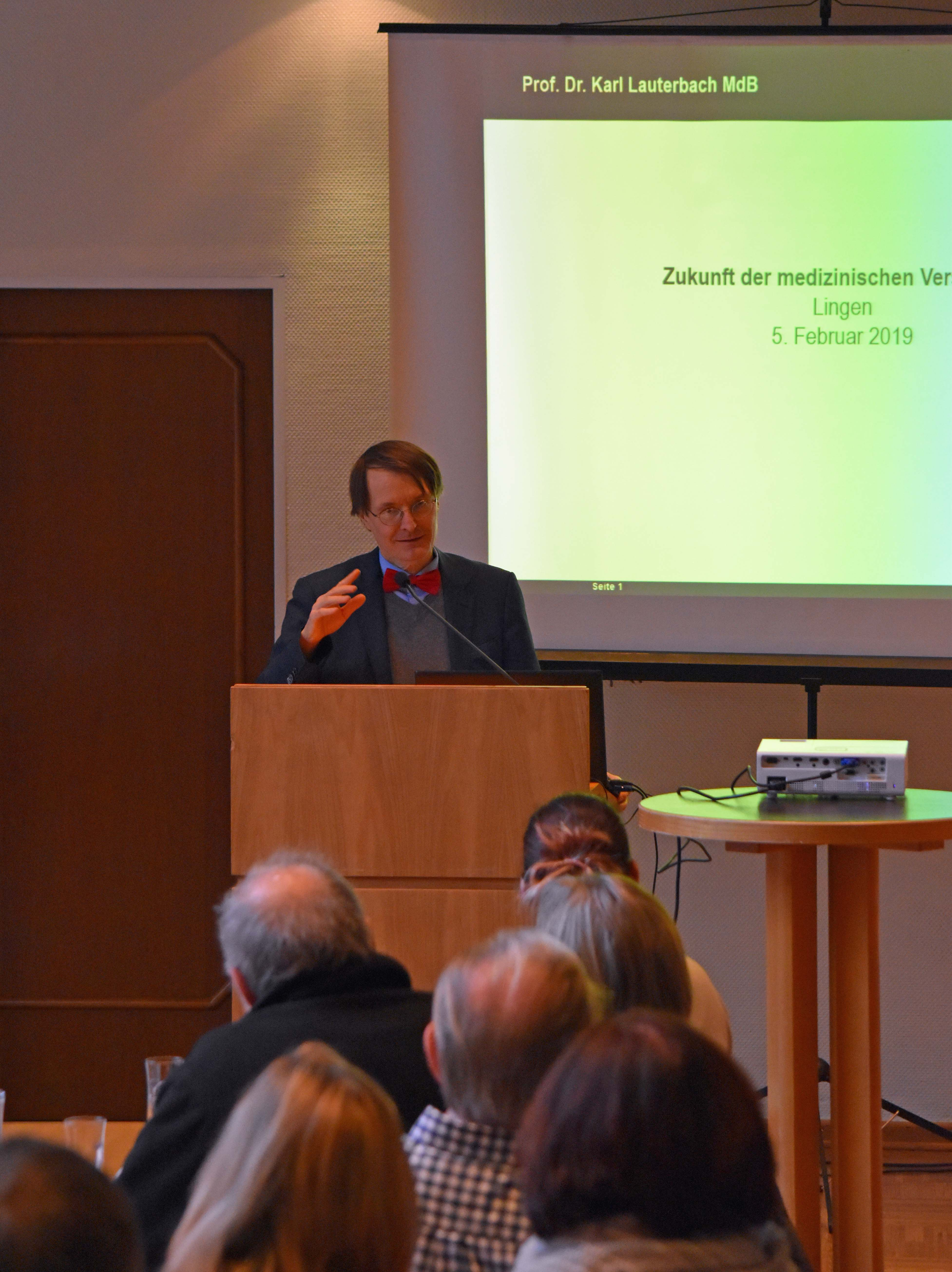 Karl beim Vortrag
