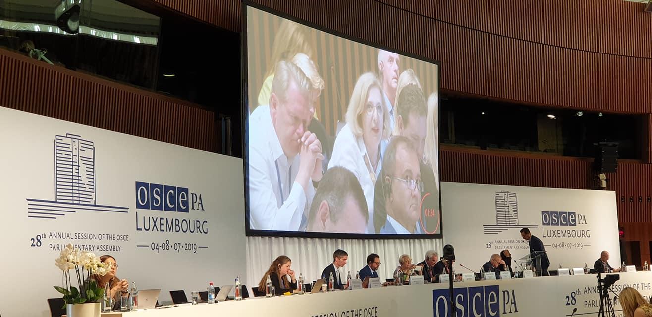 Dr. Daniela De Ridder bei der Parlamentarierversammlung der Organisation für Sicherheit und Zusammenarbeit in Europa (OSZE)