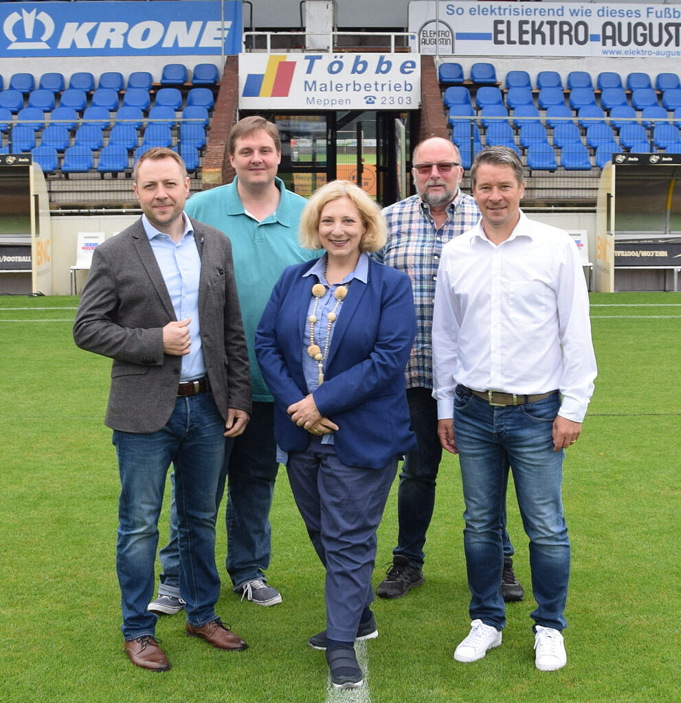 V.l.n.r.: Stefan Gette, Tobias Munsch, Dr. Daniela De Ridder, Johannes Hessel und Roland Maul