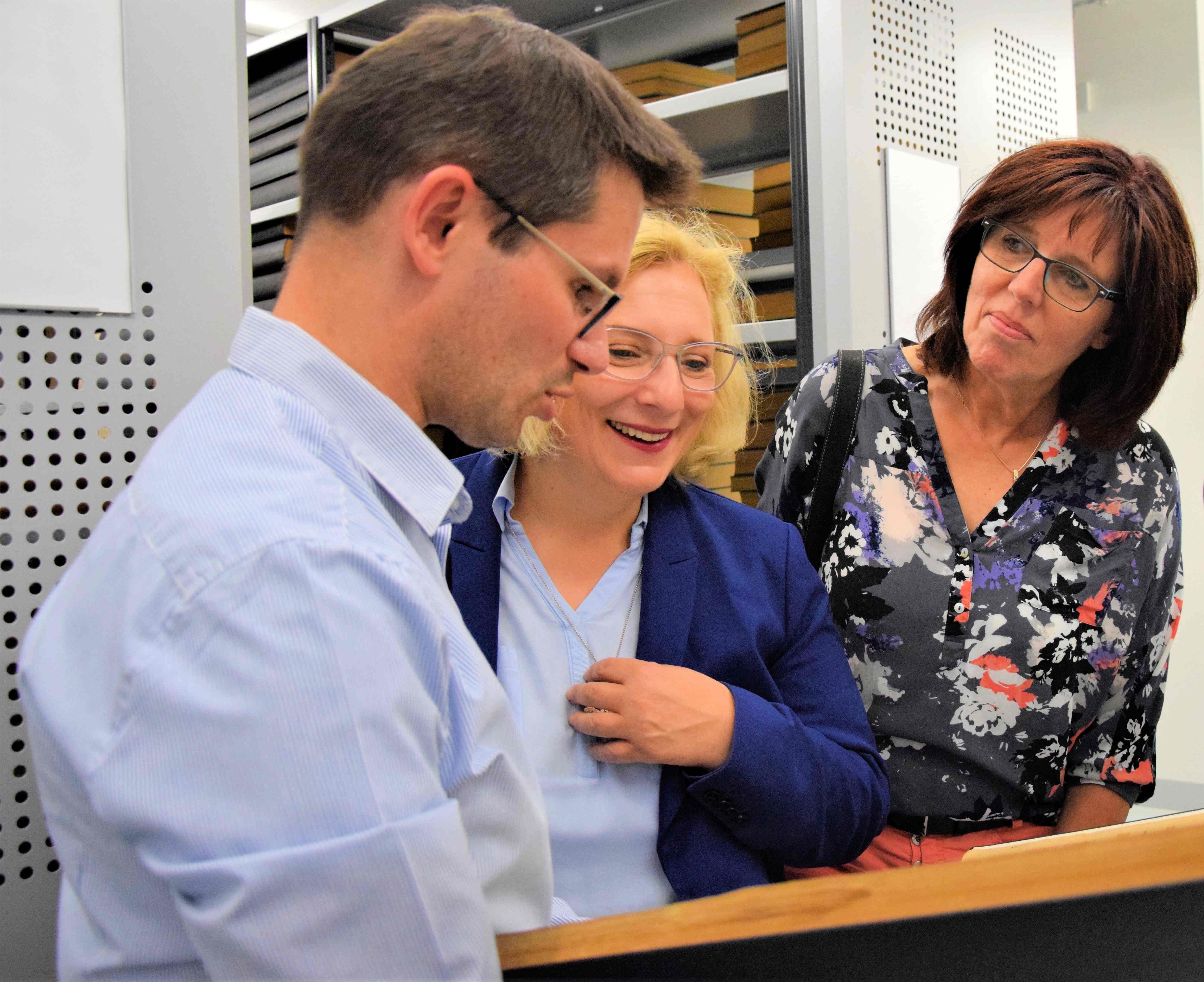 Christian Lonnemann, Dr. Daniela De Ridder, Petra Alferink