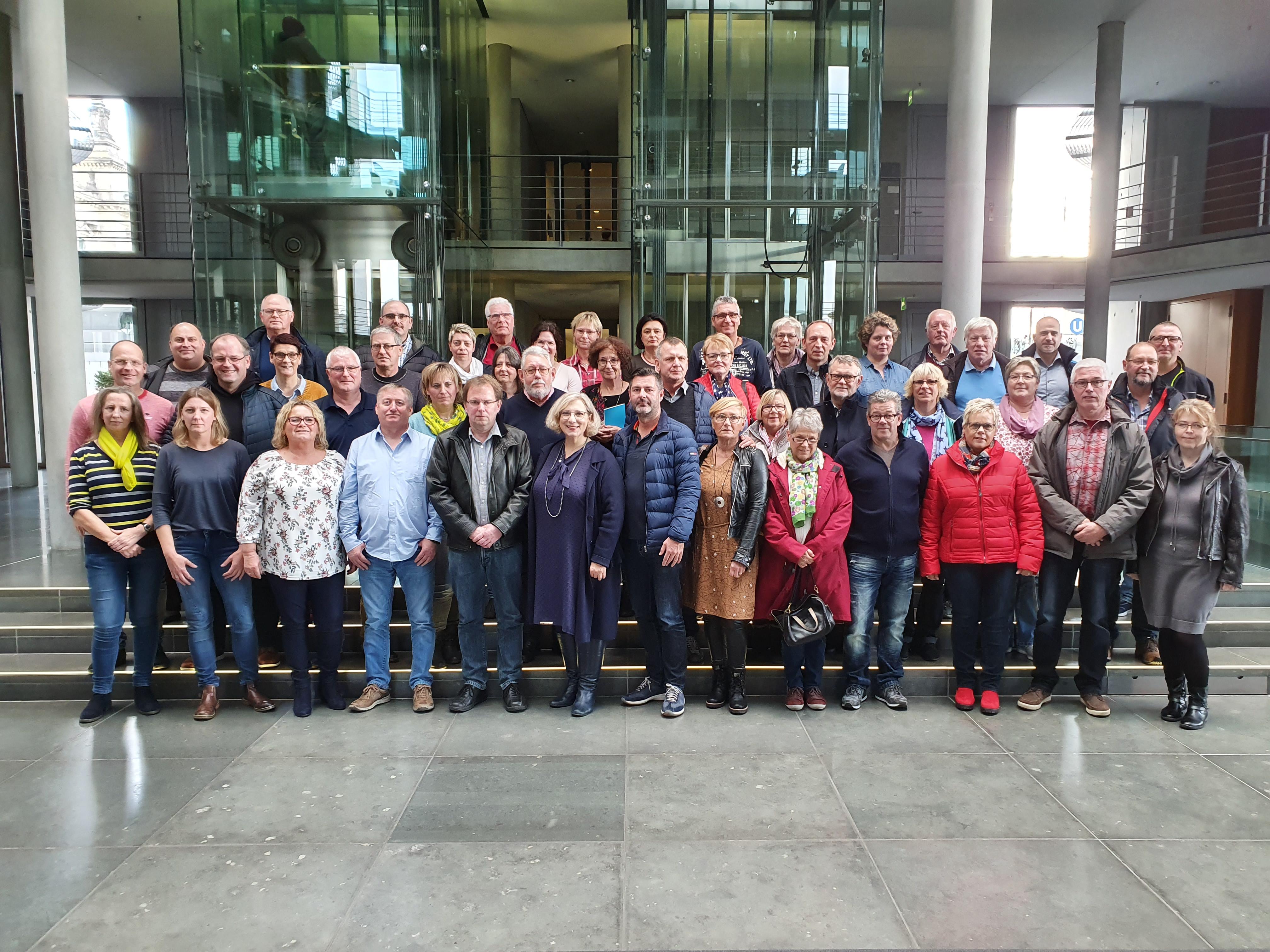 Besuchergruppe im Deutschen Bundestag