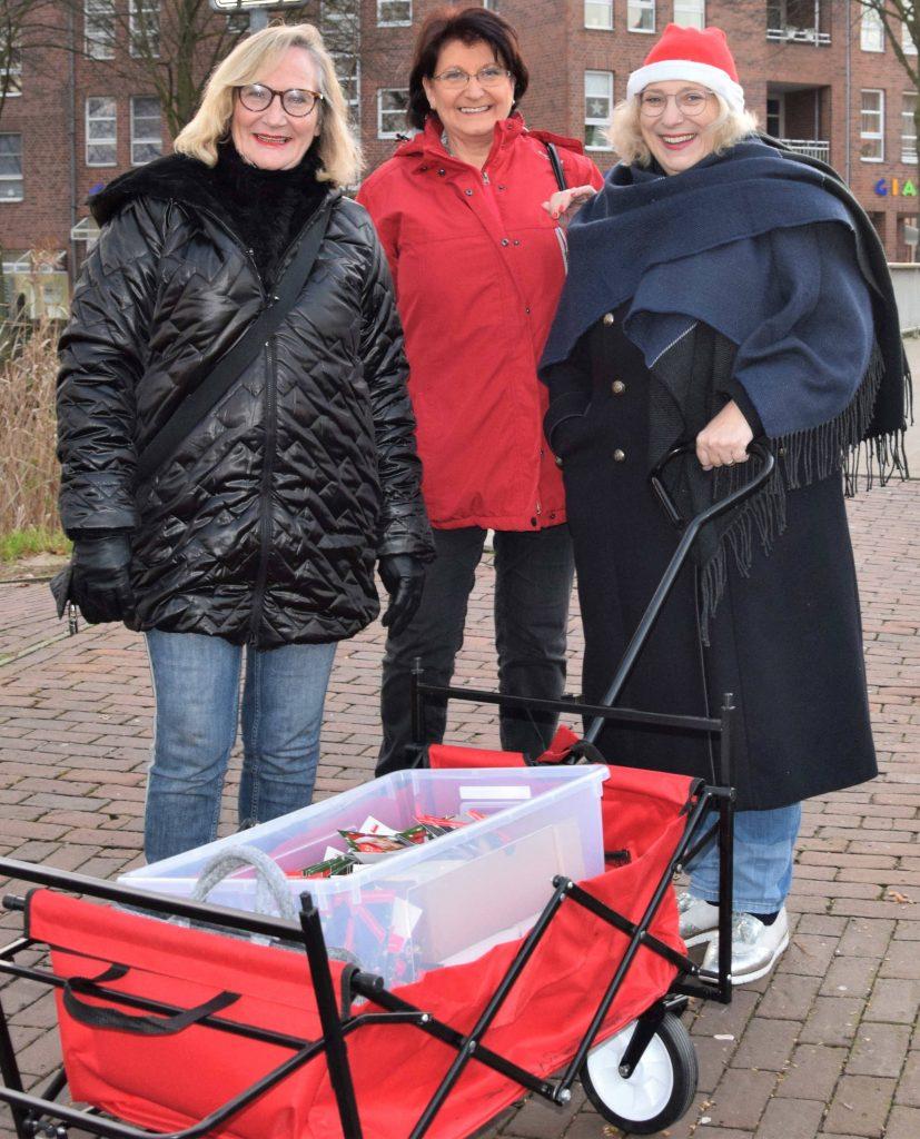 V.l.n.r.: Alide Broenink (stv. OV Vorsitzende), Irene Frantzen (OV Nordhorn), Dr. Daniela De Ridder