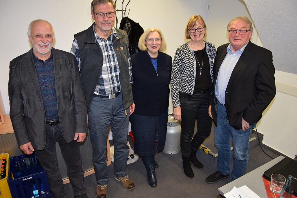 V.l.n.r.: Rainer Drescher, Gerhard Busmann, Dr. Daniela De Ridder, Alide Kolde und Hermann Heilker