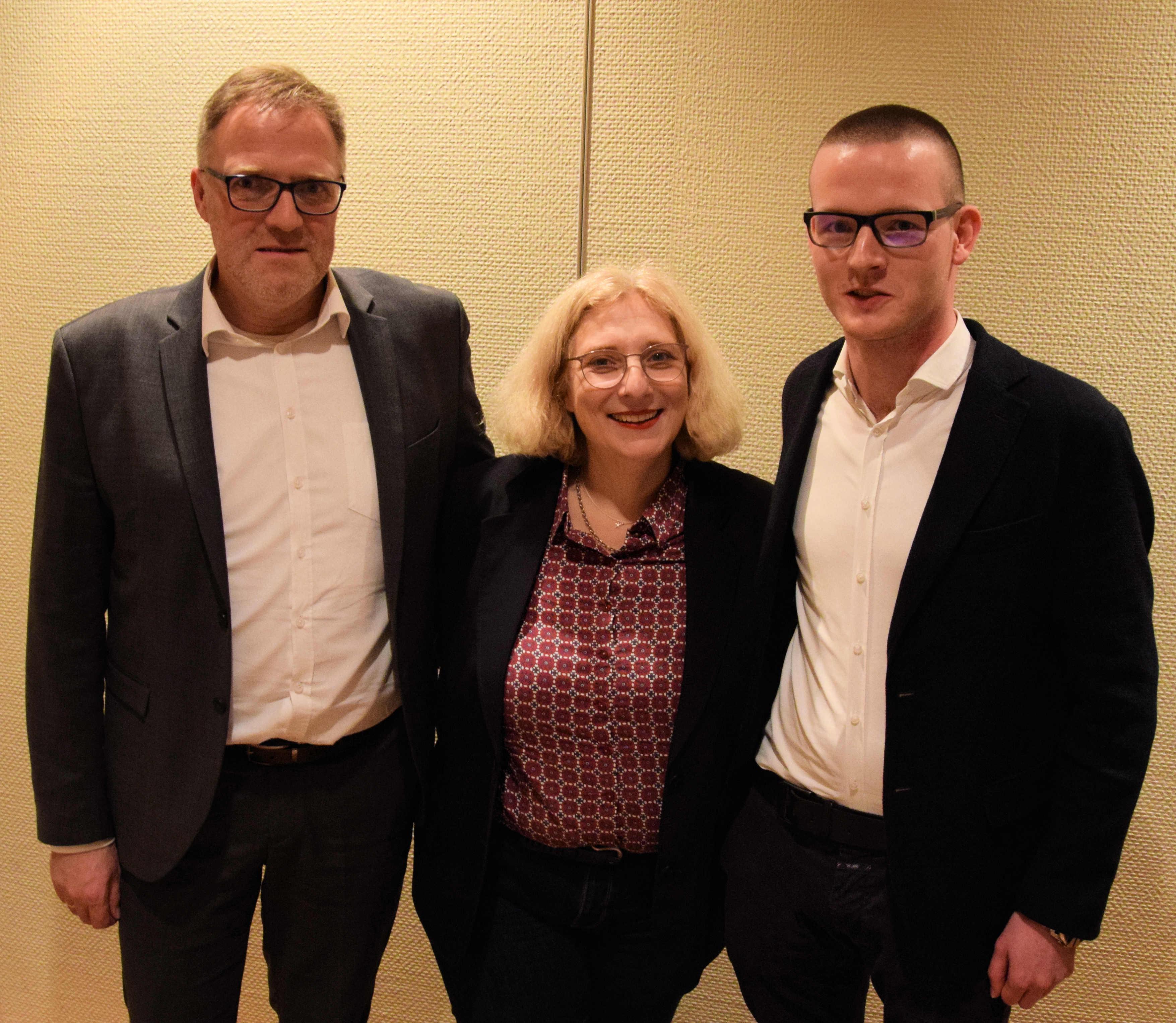 V.l.n.r.: Ludger Tieke, Dr. Daniela De Ridder, Julius Frilling