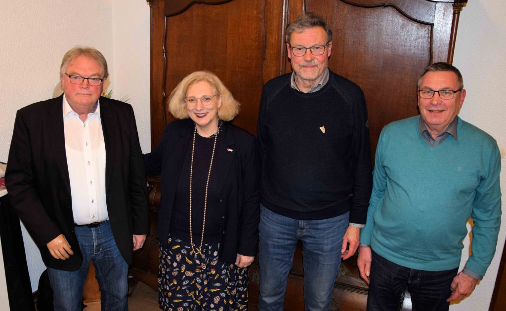 V.l.n.r.: Hermann Heilker, Dr. Daniela De Ridder, Gerhard Busmann, Gilbert Mack