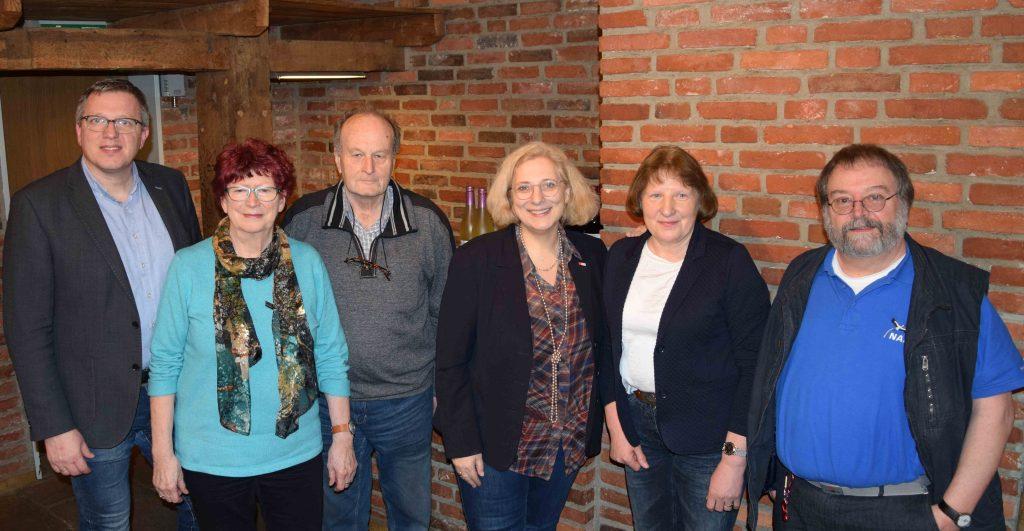 V.l.n.r.: Lambert Hurink, Dorothea Steiner, Klaus Mann, Dr. Daniela De Ridder, Margret Mönster, Thomas Weber