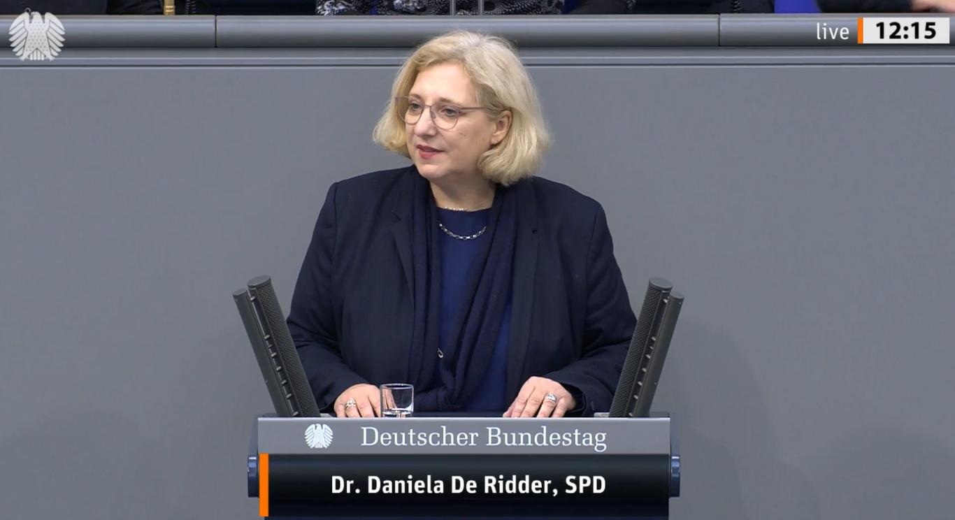 Rede von Dr. Daniela De Ridder zum Bundeswehrmandat  Sea Guardian