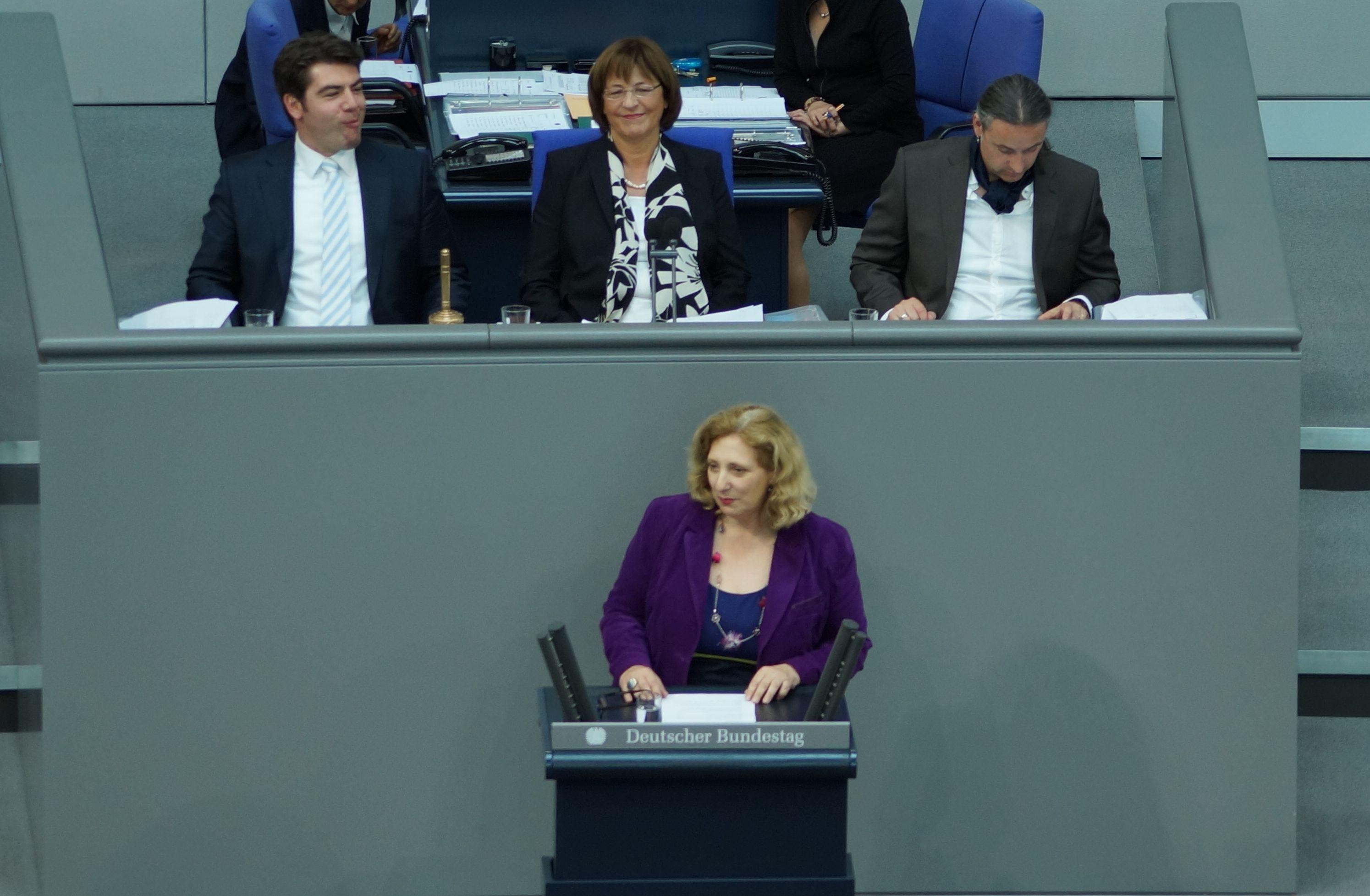 Dr. Daniela De Ridder spricht im Plenum