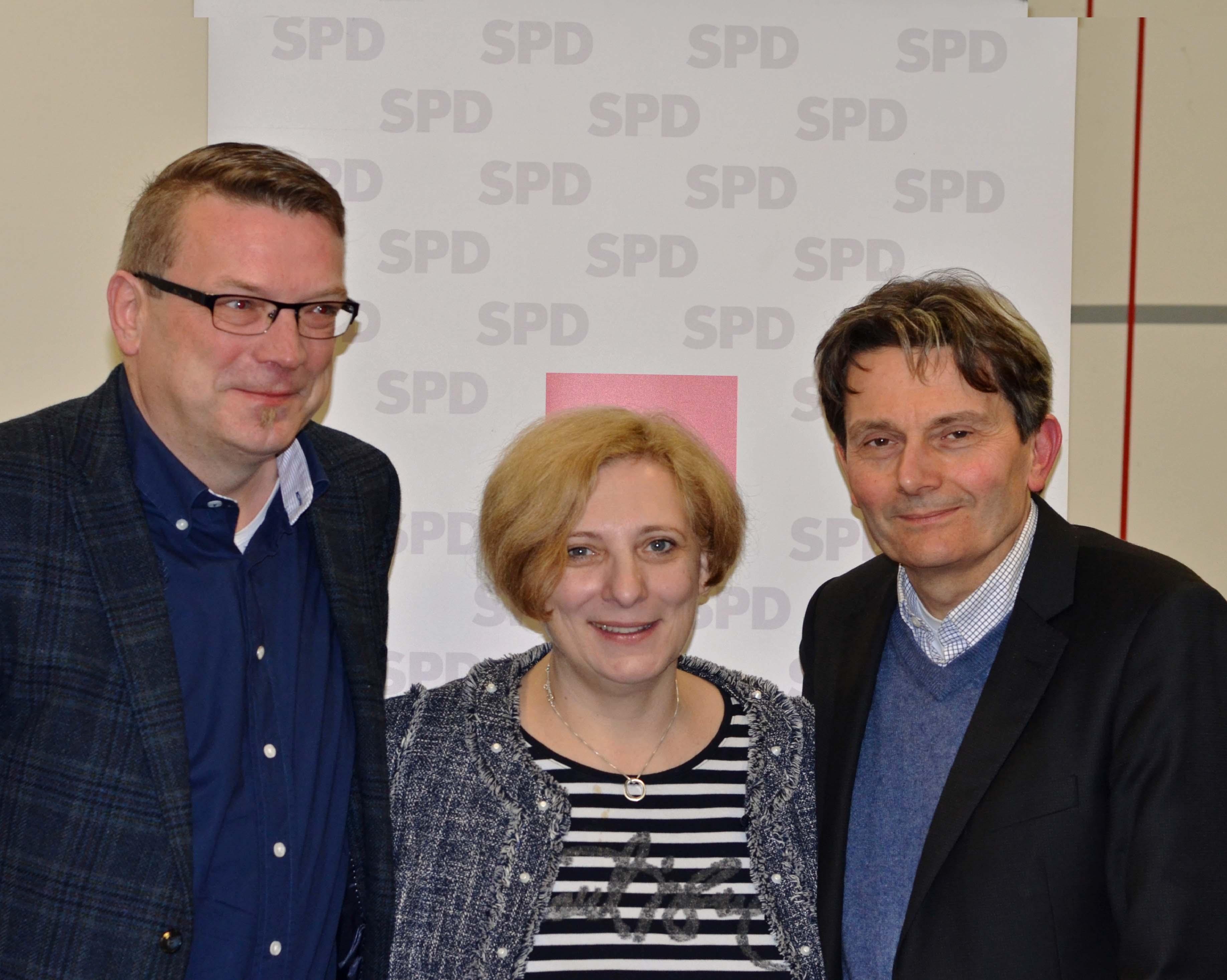 Fredo Weiden, Dr. Daniela De Ridder und Dr. Rolf Mützenich