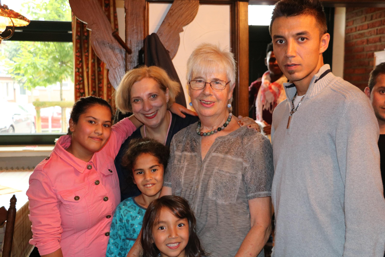 Dr. Daniela De Ridder beim Flüchtlingscafé in Lengerich 2